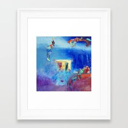 """Shelter"" Abstract Art by Nadia Janjua Framed Art Print"