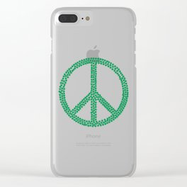 Green Peace Clear iPhone Case