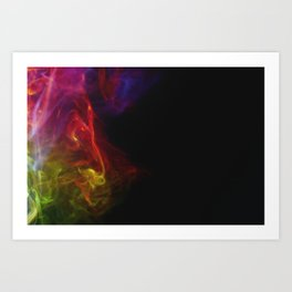 Colored Smoke Abstract Photo Sculpture #1 Art Print