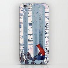 The Birches (in Blue) iPhone Skin