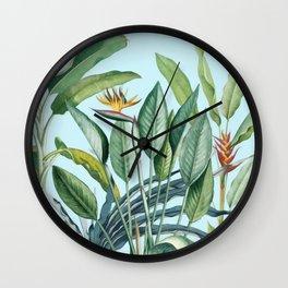 Tropical Paradise III Wall Clock