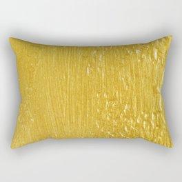 Luxury Solid Gold Paint Texture Rectangular Pillow