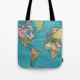 Vintage Map of The World (1897) Tote Bag