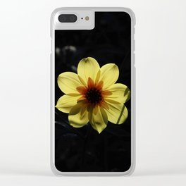 Yellow wind rose Clear iPhone Case