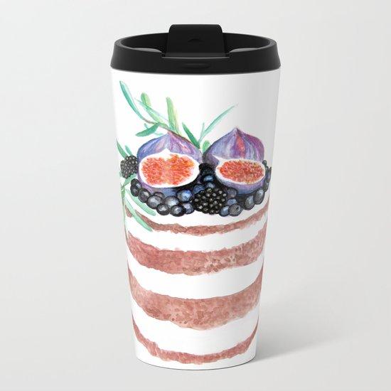 Fig Cake Metal Travel Mug