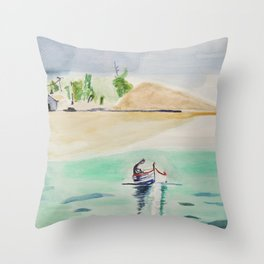 Lagon Throw Pillow