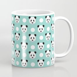 Panda polka dots pattern print minimal trendy kids design pillow cell phone cute panda cub character Coffee Mug