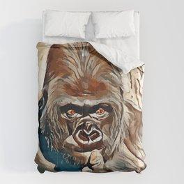 Thinking Gorilla Comforters