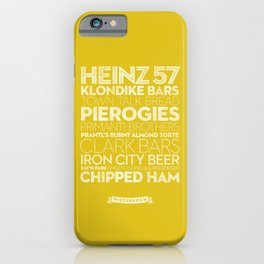 Pittsburgh — Delicious City Prints iPhone Case