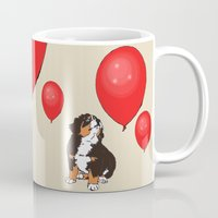 balloon Mugs featuring Balloon by Meredith Mackworth-Praed