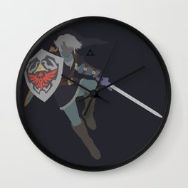 Link(Smash)Dark Wall Clock