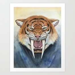 Saber tooth tiger Art Print