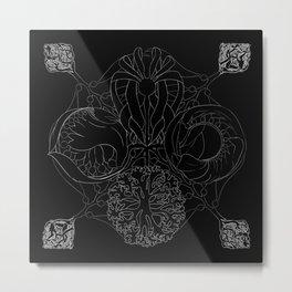 The Ocean's, Chalkboard Metal Print
