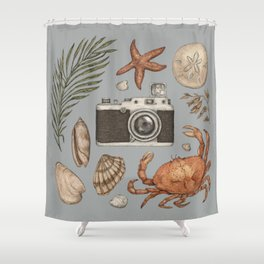 Summer Beach Collection Shower Curtain