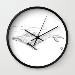 Blue Mountains. Wall Clock