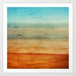 Abstract Seascape No 4: the beach Art Print
