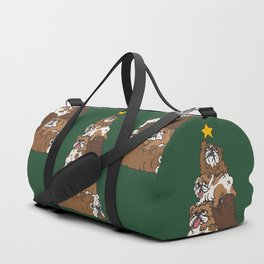 Christmas Tree English Bulldog Duffle Bag