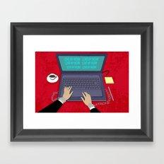 LOVE WORK Framed Art Print