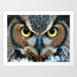 aztec owl  , aztec owl  games, aztec owl  blanket, aztec owl  duvet cover,  Art Print