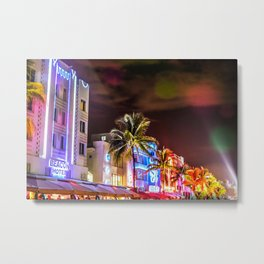 Ocean Drive South Beach Miami Florida Metal Print