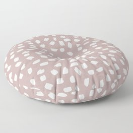 Simply Ink Splotch Lunar Gray on Clay Pink Floor Pillow