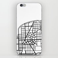 detroit iPhone & iPod Skins featuring Detroit Streets by AnnieK
