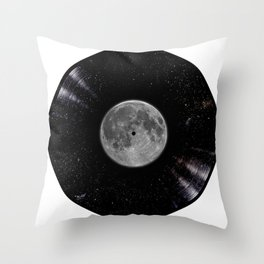 Awesome Moon and Stars Vinyl Throw Pillow
