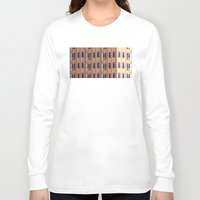 building Long Sleeve T-shirts featuring Building to Building: Church by theartistmakena