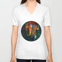 firefly V-neck T-shirts featuring Gypsy Firefly by Aimee Stewart