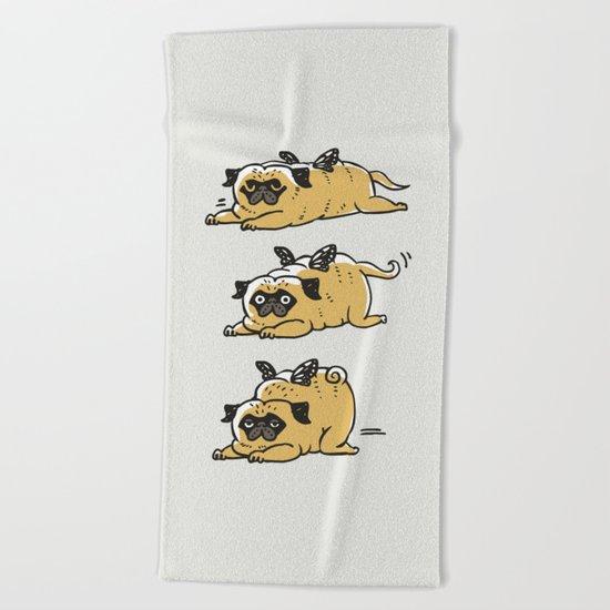 Puggerpillar Beach Towel