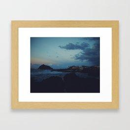 Sunset over Garachico, Tenerife Framed Art Print