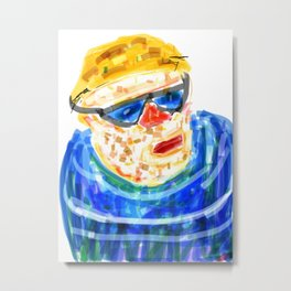 Sad looking man Metal Print