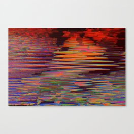 digital lava Canvas Print
