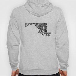 Typographic Maryland Hoody