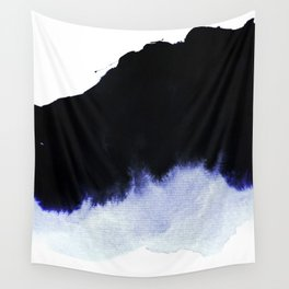 black & blue Wall Tapestry