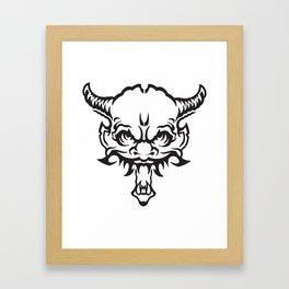 Demon Devil Framed Art Print