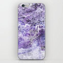 Organic Purple Abstract Marble iPhone Skin