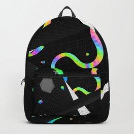 Glitchy Pixelated Snake Backpack