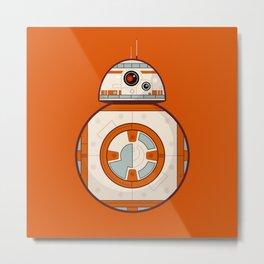 BB8 Droid on Orange Metal Print