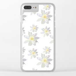 Lily Daffodil Clear iPhone Case