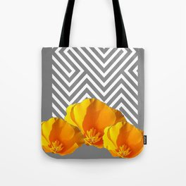 ABSTRACT CONTEMPORARY YELLOW POPPIES PATTERNS Tote Bag