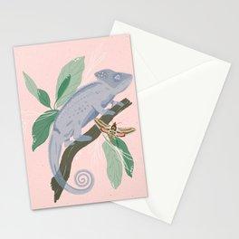 Blue Chameleon Stationery Cards
