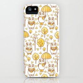Pandas and ginkgo iPhone Case
