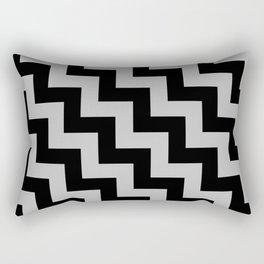 Black and Gray Steps LTR Rectangular Pillow