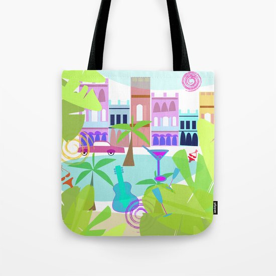 Cuban Holiday Tote Bag