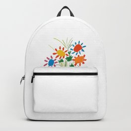 Picasso le bouquet colorful floral positive wall art, anti war print, room decor, picasso Backpack