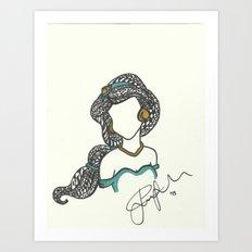 Princess Jasmine Zen Tangle Art Print
