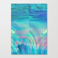 turquoise Canvas Prints featuring turquoise by Hannah