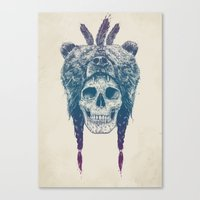 dead Canvas Prints featuring Dead shaman by Balazs Solti
