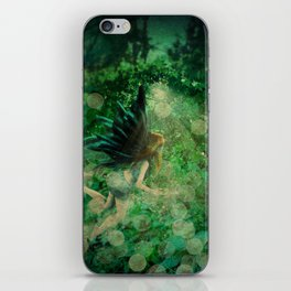 Abstract illustration of fairy fly in the forest iPhone Skin